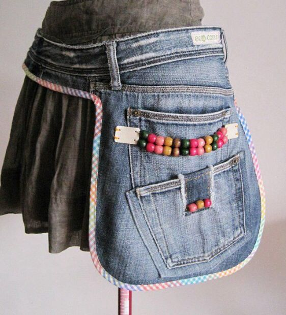 Denim Side Pouch or Pocket