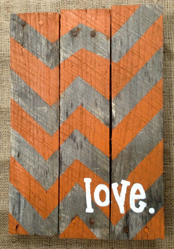 Pallet Sign Hand Painted Chevron Pattern Chevron Sign