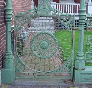 headboard becomes a garden gate
