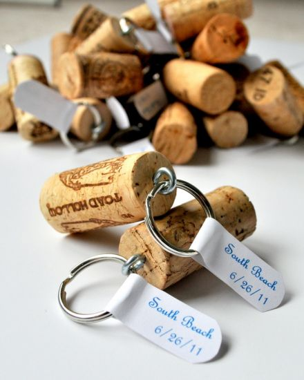 wine cork keychaings