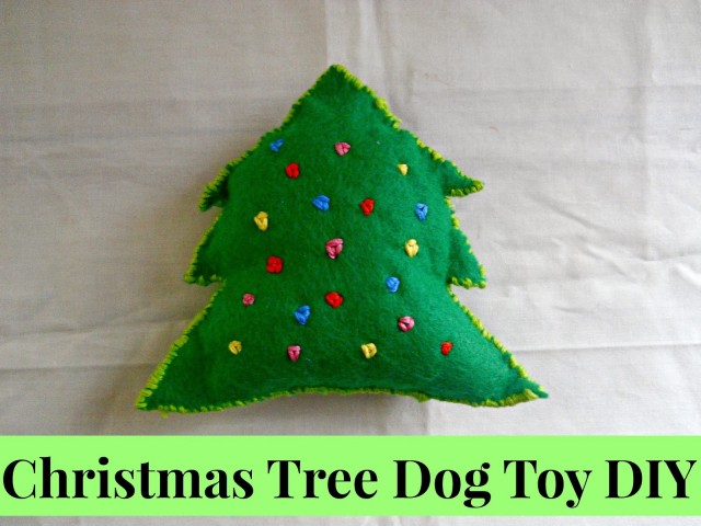 Do It Yourself Christmas Tree Dog Chew Toy