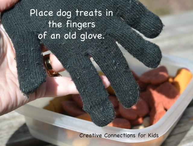Easy DIY dog toy glove