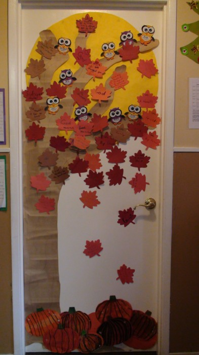 Thanksgiving Classroom Door Decorations Ideas ~ Classroom door decoration projects for teachers