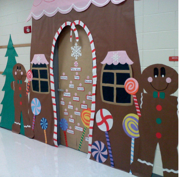 Classroom Christmas Design ~ Classroom door decoration projects for teachers