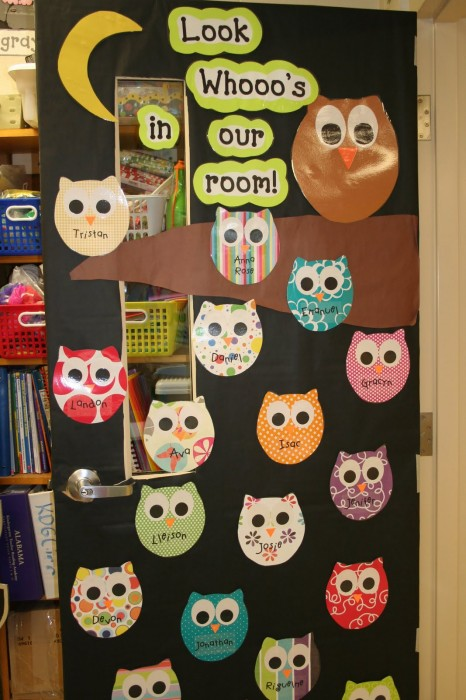 Owl Classroom Decoration Ideas ~ Classroom door decoration projects for teachers