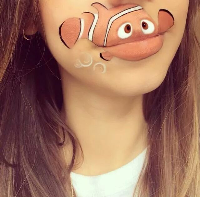 Funny Makeup Faces with Animated Cartoon Characters