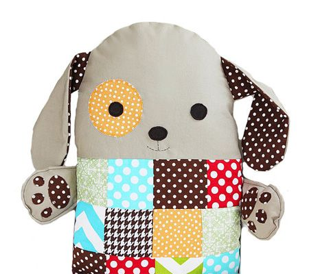 patchwork toy dog pillow