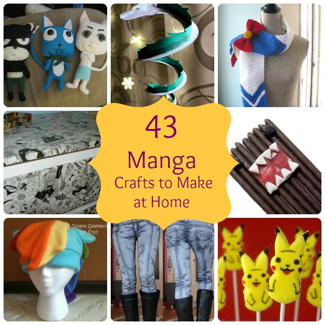 Big diy ideas 43 simple anime manga crafts to make at home for Cheap home stuff