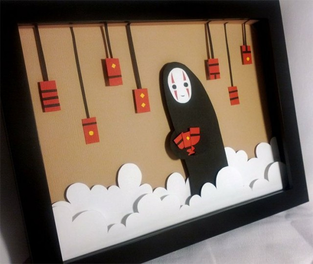 Spirited Away No Face Shadowbox