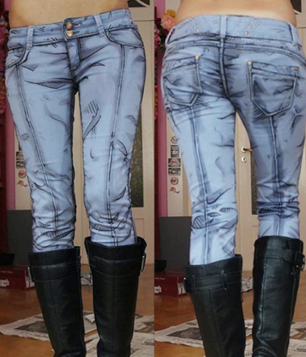 anime character with these DIY jeans