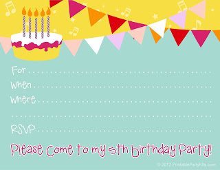 Printable Birthday Party Cards Invitations For Kids To Make - Birthday party invitation cards to print