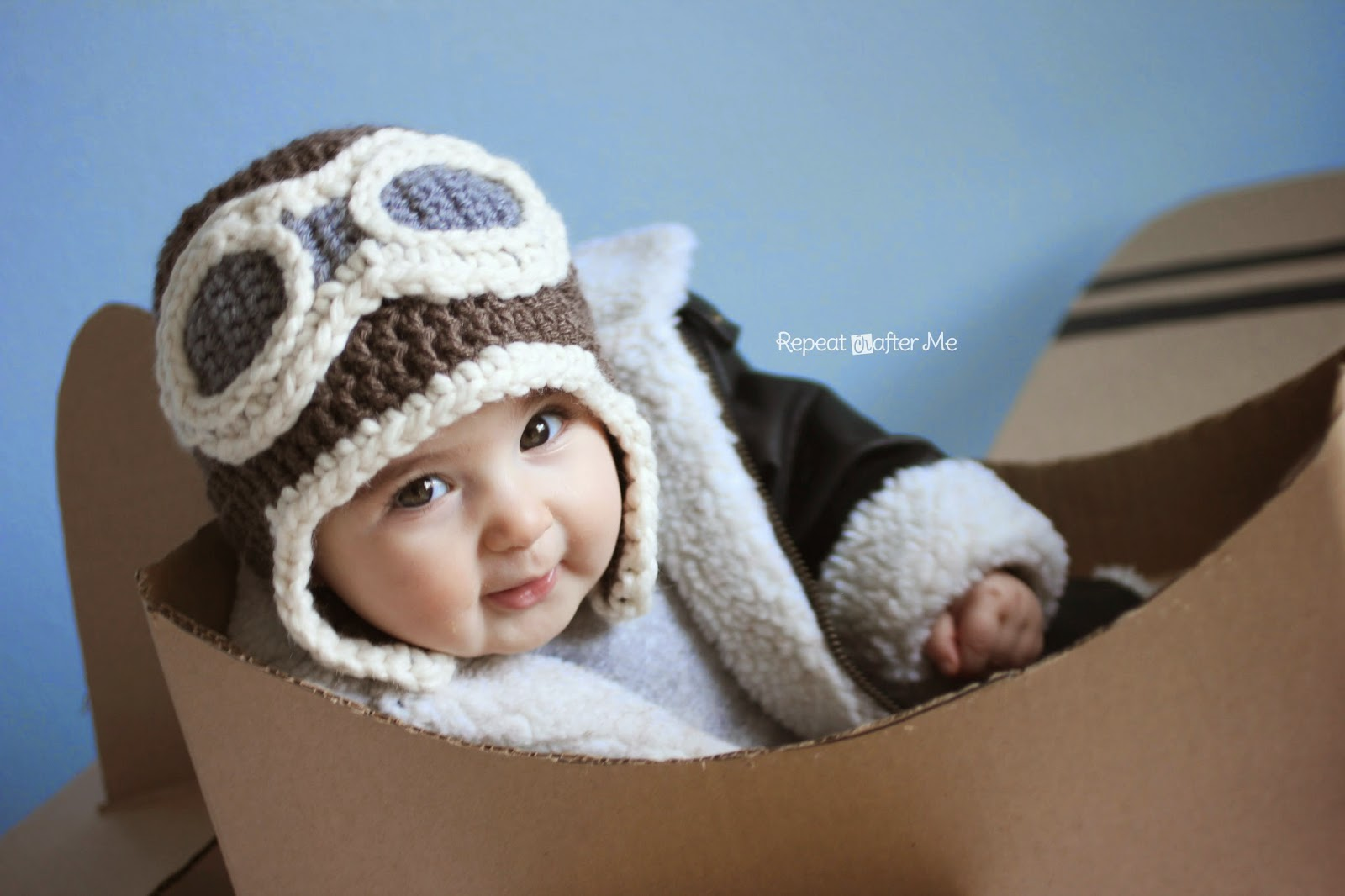 Baby Aviator Hat Knitting Pattern Free : 41 Adorable Crochet Baby Hats & Patterns to Make