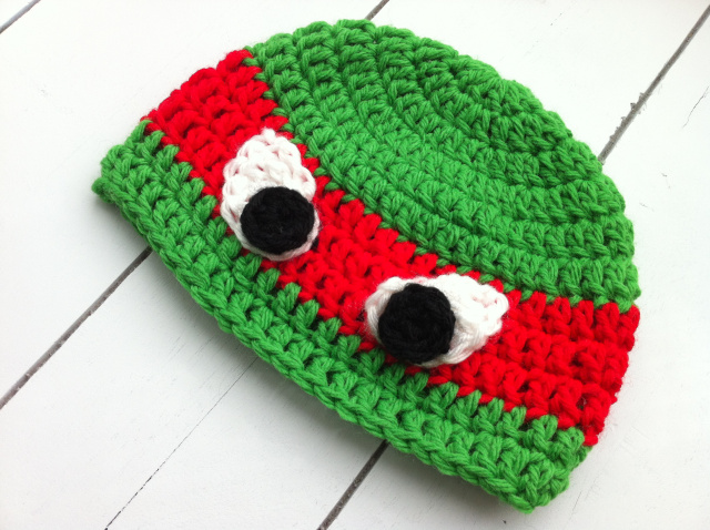 Free Crochet Pattern For Ninja Turtle Hat With Mask : 41 Adorable Crochet Baby Hats & Patterns to Make