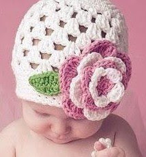 Easy Crochet Flower Patterns For Hats : 41 Adorable Crochet Baby Hats & Patterns to Make