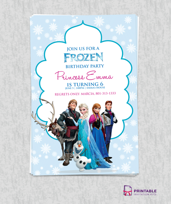 FROZEN Birthday Invitation Template  Free Birthday Invitations Templates For Kids