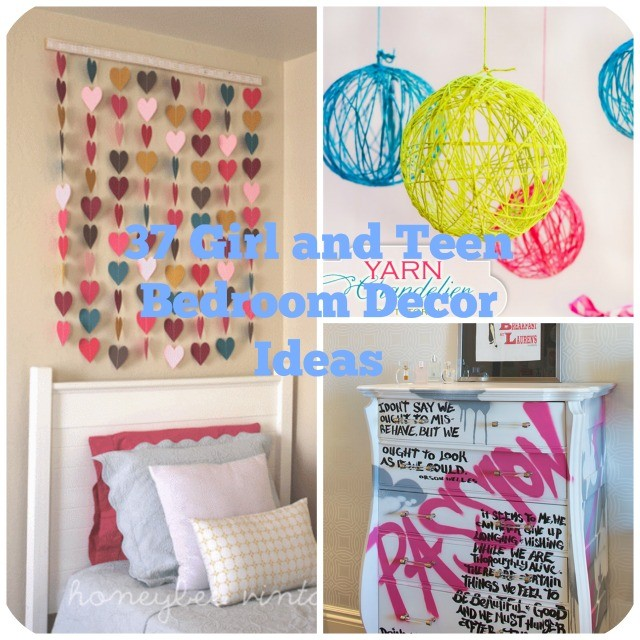 37 diy ideas for teenage girls room decor - Teenage Girl Bedroom Wall Designs