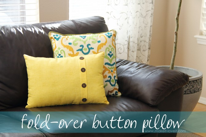 Fold Over Button Pillow Cover Part 70