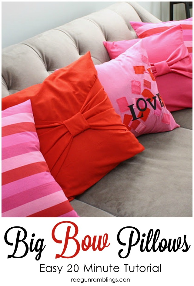 tutorial big bow pillow cases