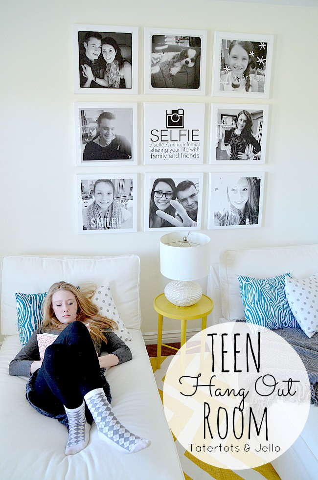 Istagram selfie wall - Teenage wall art ideas ...