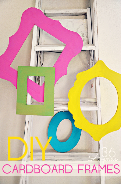 38 easy diy photo and picture frame crafts diy cardboard frames tutorial solutioingenieria Images