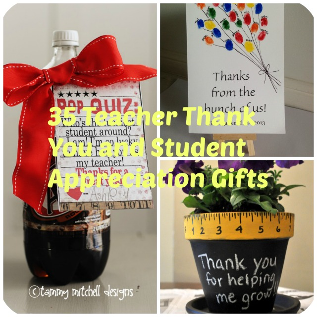 Classroom Thank You Ideas ~ Diy teacher appreciation gift ideas