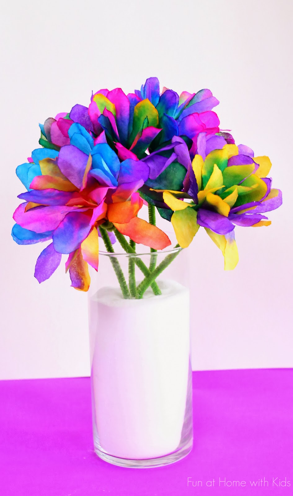 40 pretty paper flower crafts tutorials ideas vibrantly colored coffee filter flowers mightylinksfo Images