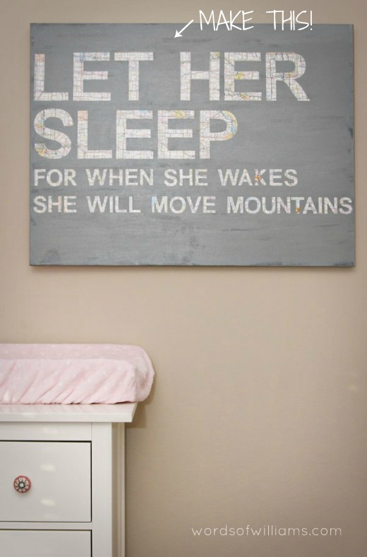 40 sweet and fun diy nursery decor design ideas for Diy room decor quotes