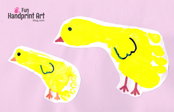 Footprint-Chicks-Easter-Craft-for-Kids