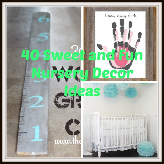 Diy Wall Decor For Baby : Sweet and fun diy nursery decor design ideas