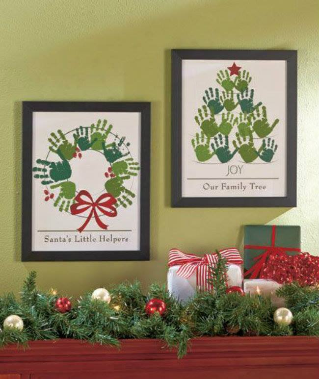 40 fun and creative handprint crafts for Family arts and crafts