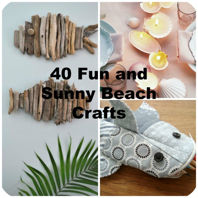 40 easy beach craft ideas to make this summer for Easy diy arts and crafts