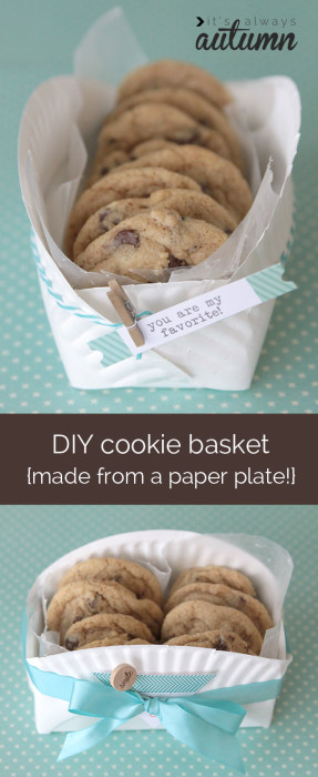 cookie-basket-sleeve-diy-package-from-a-paper-plate-instructions