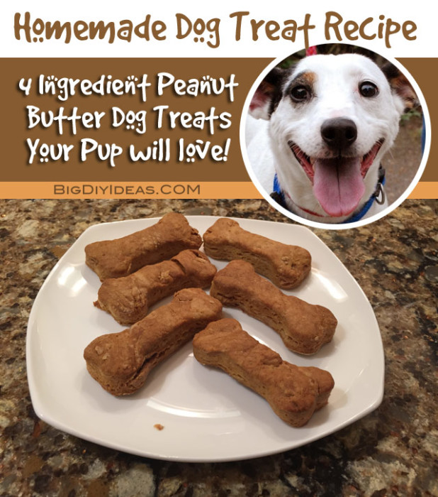 Easy Recipe For Homemade Peanut Butter Dog Treats