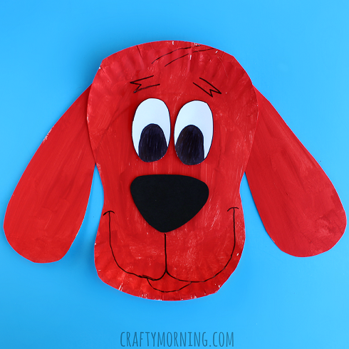paper-plate-clifford-dog-kids-craft & 40 Fun and Fantastic Paper Plate Crafts