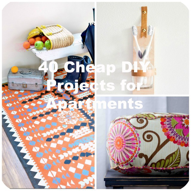 40 cheap diy projects for small apartments for Cheap diy home decor