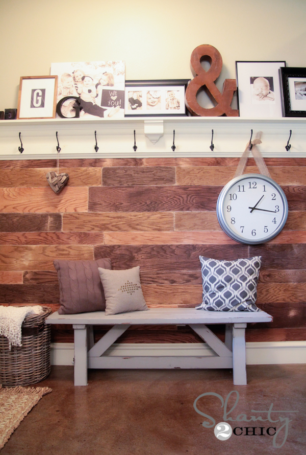 DIY Plank Wall40 Cheap DIY Projects for Small Apartments. Living Room Diy Projects. Home Design Ideas