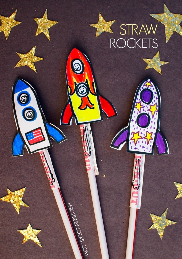 Diy Kids Craft Ideas Part - 50: Straw Rockets