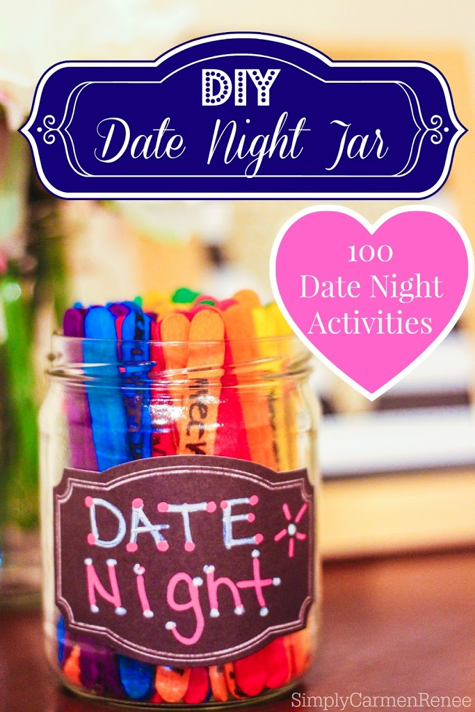 40 romantic diy gift ideas for your boyfriend you can make diy date night jar for great date ideas solutioingenieria Choice Image