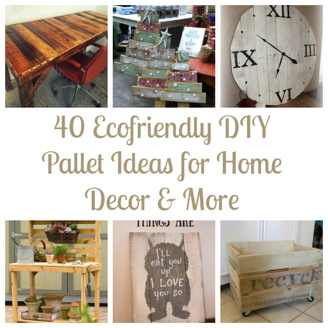 40 ecofriendly diy pallet ideas for home decor more - Home decor ideas diy ...
