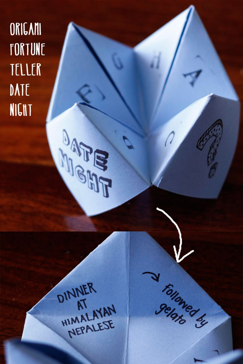 40 romantic diy gift ideas for your boyfriend you can make origami fortune teller date gift idea diy 1 solutioingenieria