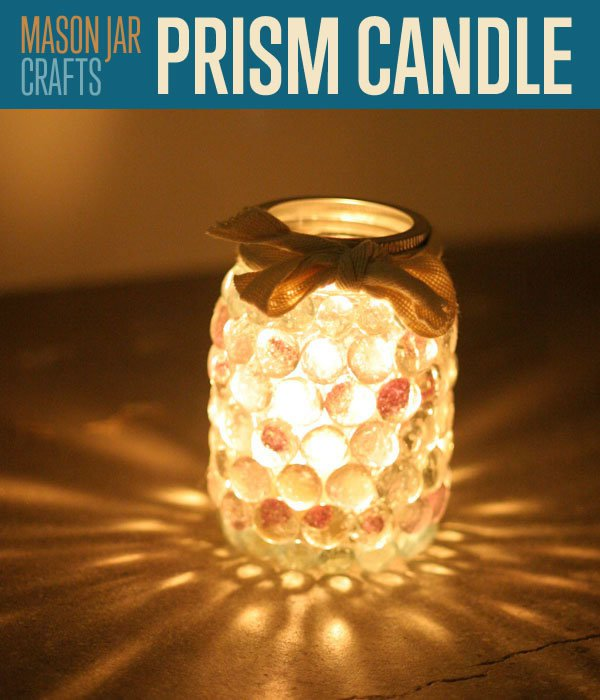 Mason Jar Craft Ideas For Christmas Part - 38: Prism Candle Made From A Mason Jar Craft