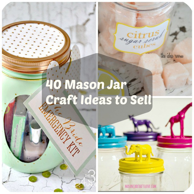 40 mason jar crafts ideas to make sell for Cute diys to sell