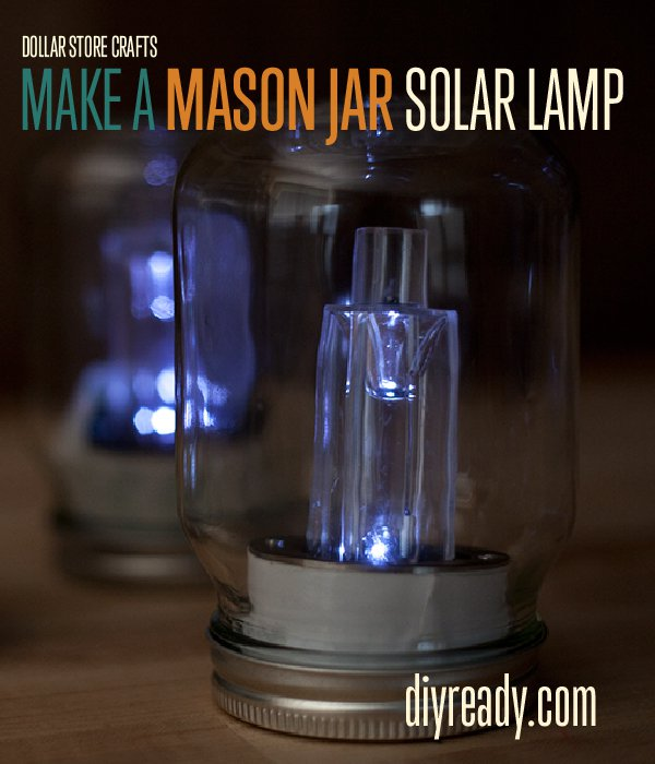 40 mason jar crafts ideas to make sell for Solar lights for craft projects