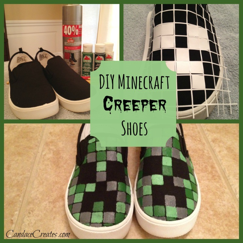 40 minecraft diy crafts party ideas creepershoes solutioingenieria Choice Image