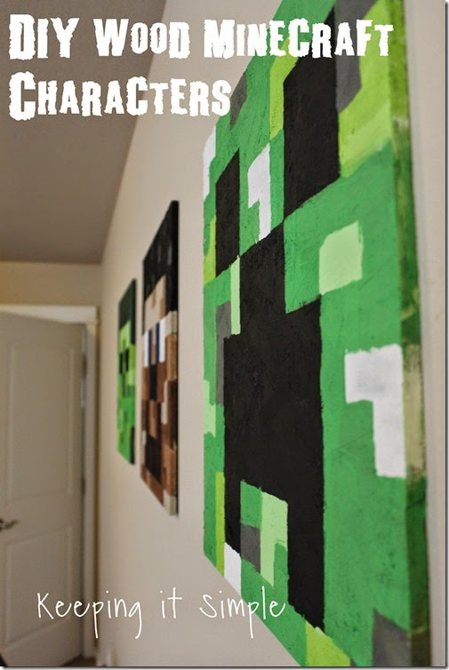 Minecraft Craft Ideas For Kids Part - 46: DIY Wood Minecraft Characters