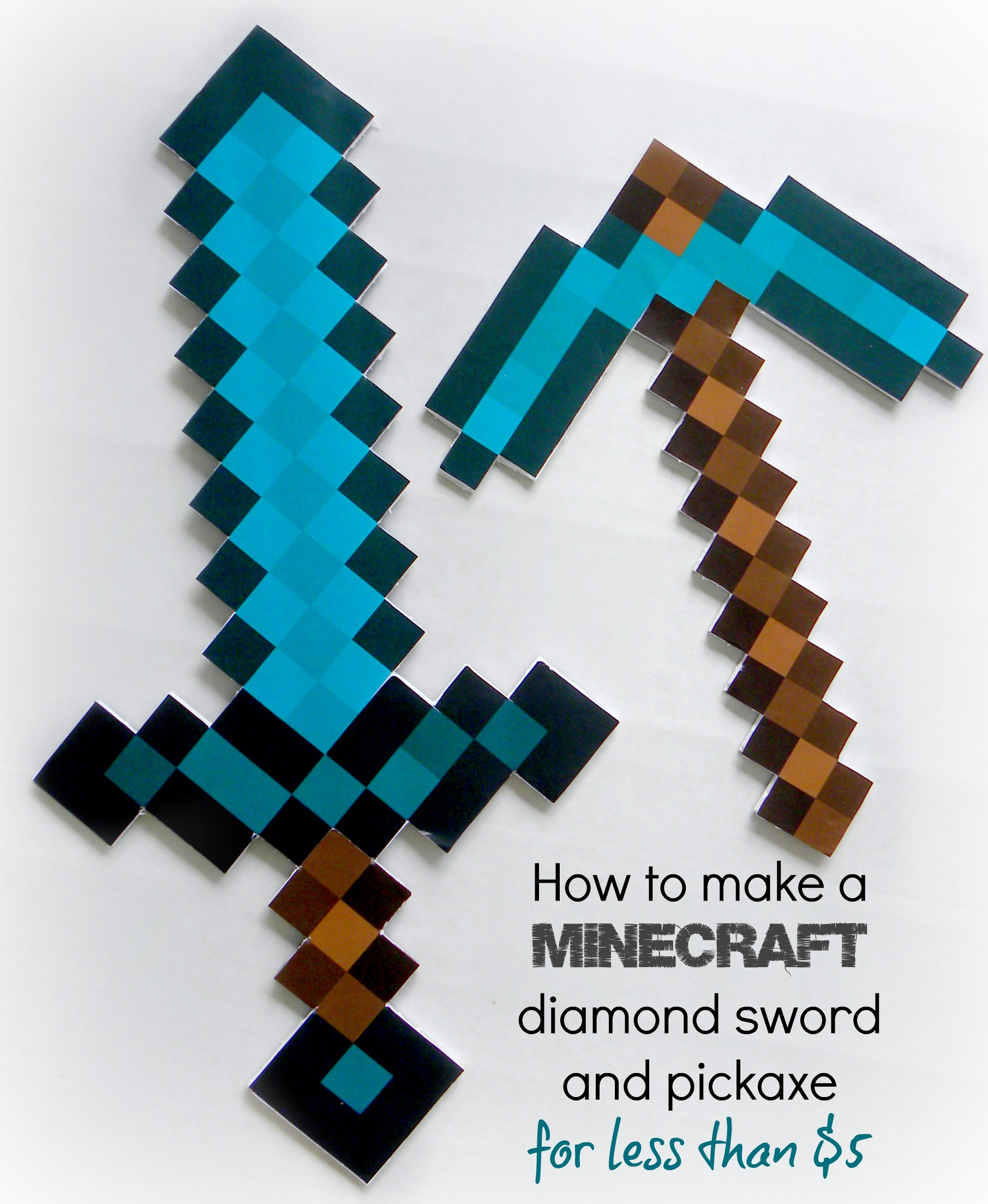 Revered image throughout minecraft sword printable