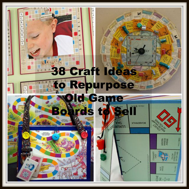 38 Diy Craft Ideas To Repurpose Old Game Boards To Sell
