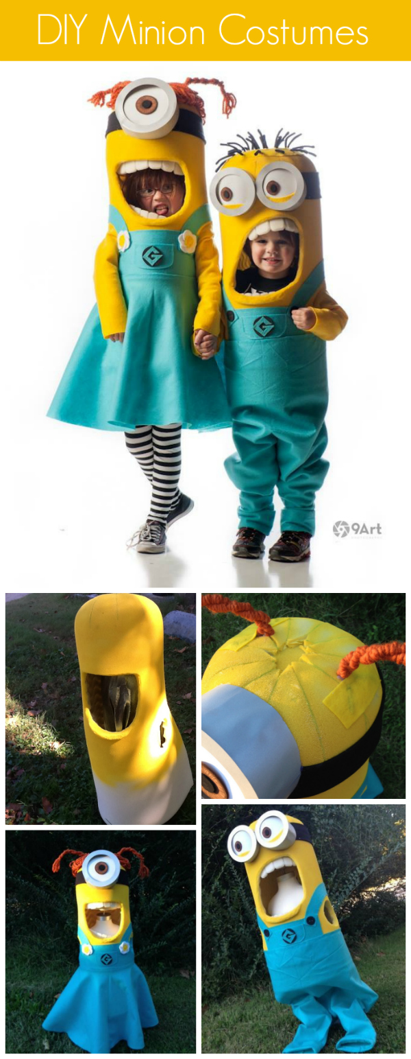 37 diy minion costume ideas for halloween how to make minion costumes tutorial solutioingenieria Gallery