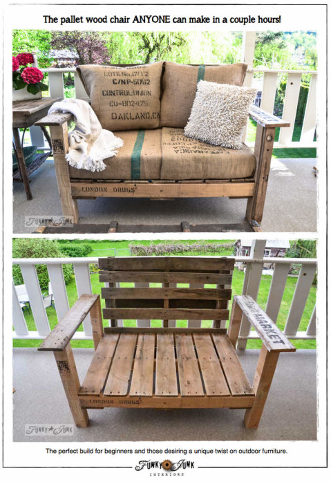 pallet wood chair - Wood Pallet Projects