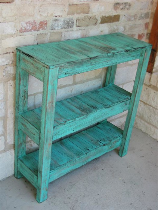 pallet potting table and entry way table 1 - Wood Pallet Projects